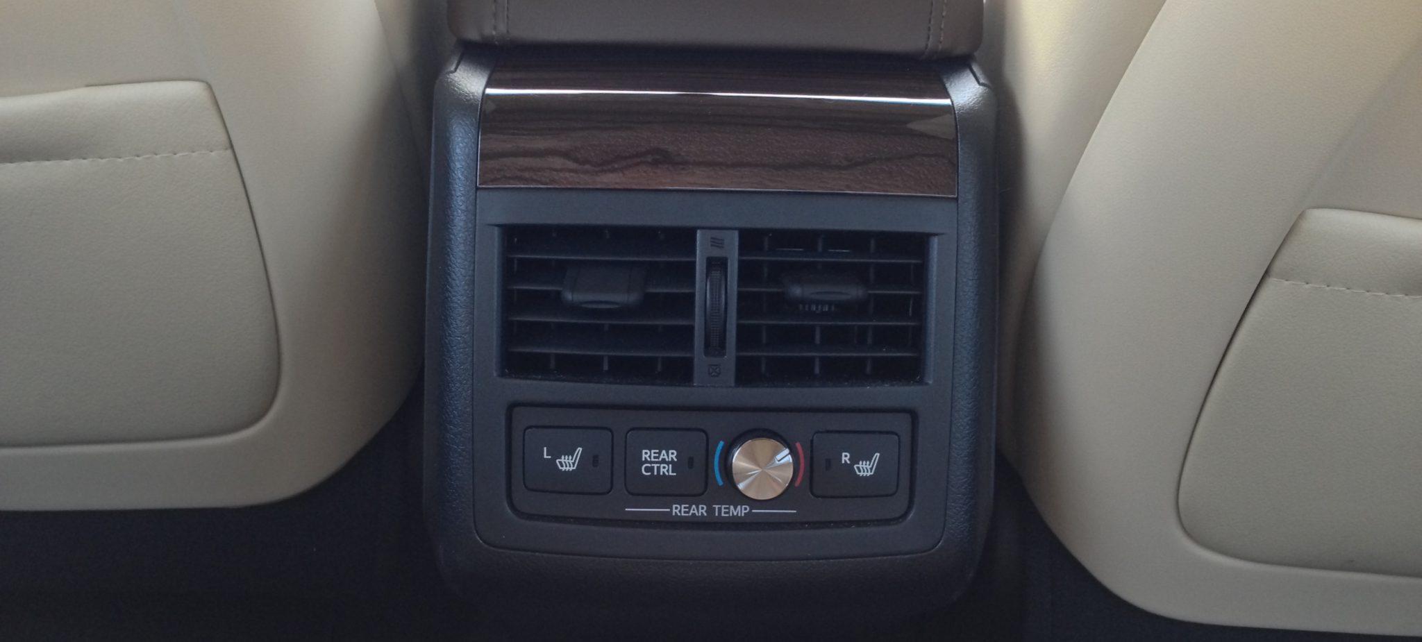 Avalon Rear Heating