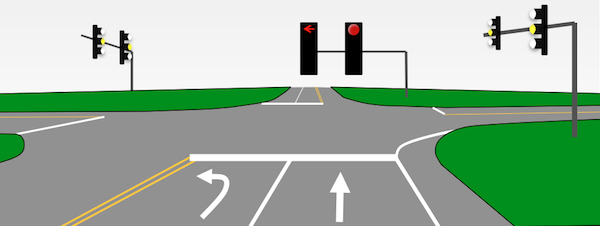 2. Red LIghts - Yellow on the Sides