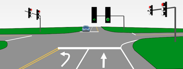 3. Green Lights with Green Turn Light