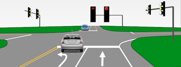 5. Red Lights - Car Turning Left