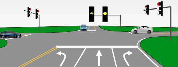 6. Yellow Lights - You're turning Right