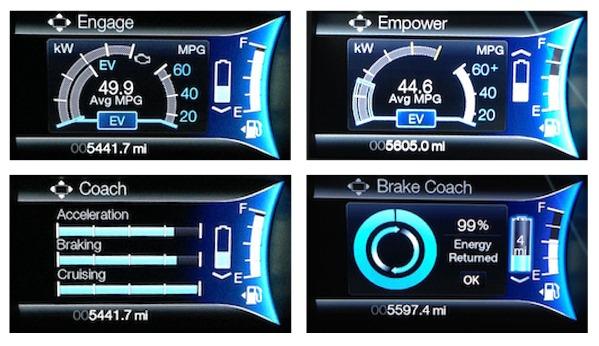 2013 Ford Fusion Energi Dash - Collage